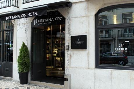 Entrada del Restaurante Hotel Pestana CR7 de Lisboa by TravellersandCo