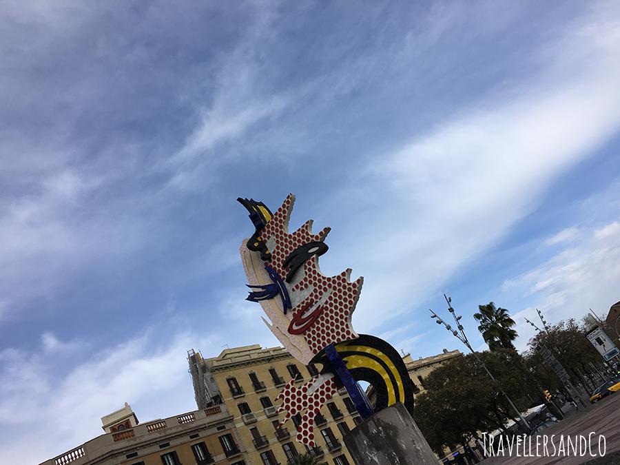 La cara de Barcelona de Roy Lichtenstein, Barcelona by TravellersandCo