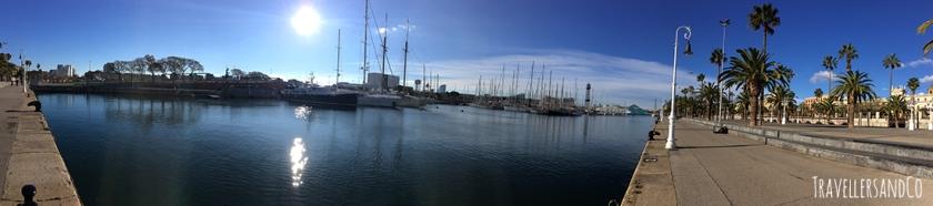 Panorámica del puerto de Barcelona by TravellersandCo