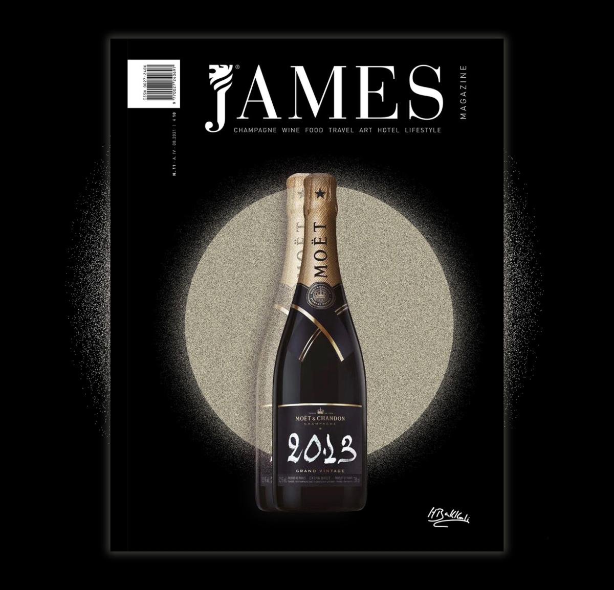 Houda Bakkali firma la portada de Moët & Chandon para JamesMagazine
